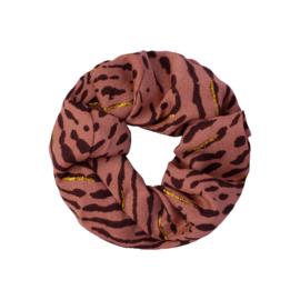 Scrunchie 'animal fever' roestkleur