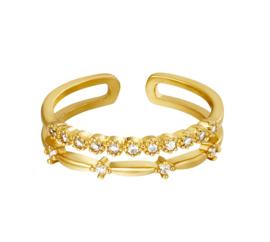 Ring goud zirkonia