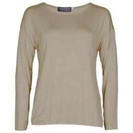 Shirt basic lange mouwen bruin