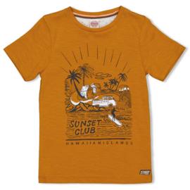 Sturdy t-shirt okergeel - Happy Camper