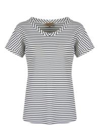 Shirt zwart/wit gestreept