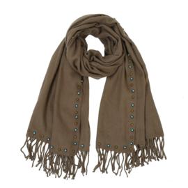 Sjaal bruin studs