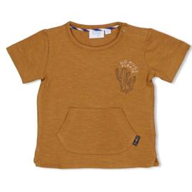 Feetje t-shirt Chill on camel 'Looking Sharp'