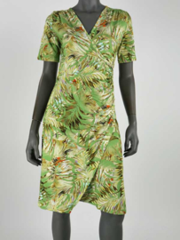 Overslag jurk groen print Angelle Milan