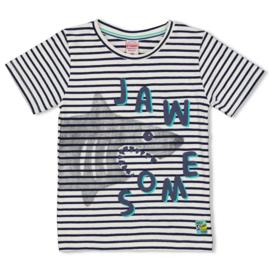 Sturdy t-shirt indigo gestreept- Smile & Wave