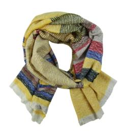 Sjaal streep geel