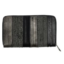 Portemonnee/Clutch zwart/grijs