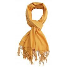 Sjaal uni okergeel