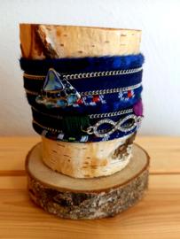 Ibiza wikkelarmband blauw magneetsluiting