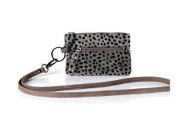 Portemonnee cheetah grijs/zwart klein