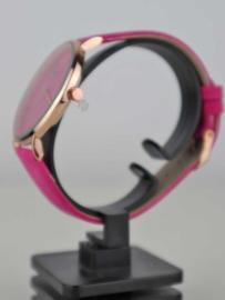 Dameshorloge fuchsia roze/goud Ernest