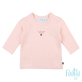 Feetje longsleeve roze 'To the moon and back'