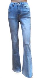 Jeans flared  midhigh waist licht blauw Cindy H