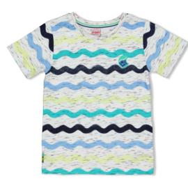 Sturdy t-shirt wit - Smile & Wave