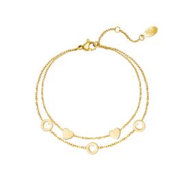 Armband  'Romance' goud