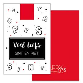 Kadokaartje: Veel liefs Sint en Piet