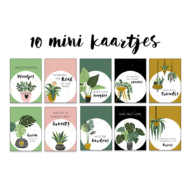 Set van 10 mini kaartjes