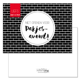 Sinterklaaskaart: Niet openen voor pakjesavond!