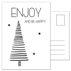 Kerstkaart: Enjoy