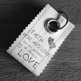 Canvas label: Faith hope and love