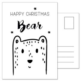Kerstkaart: Bear