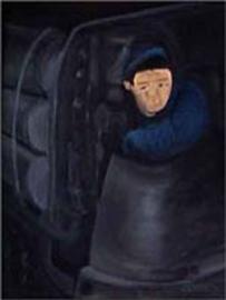 Mijnwerker ( de persluchtlocomotief)