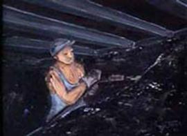 Mijnwerker (aan de slag)