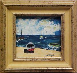 1990  Boot aan zee