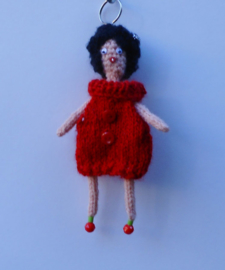 girl met rode jurk