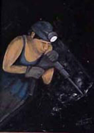 Mijnwerker  (afbouwhamer)