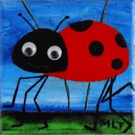 Lieveheersbeestje schilderij