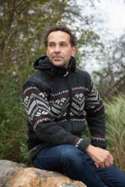 Pure Wool Handgebreide Vest WJK-1314 Antraciet