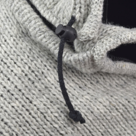 Pure Wool Handgebreide Vest WJK 1323 Ecru