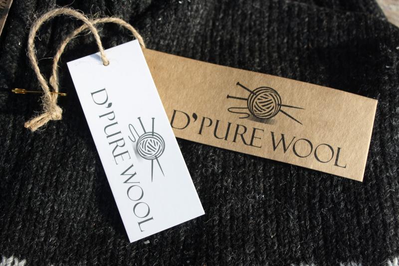 Pure Wool Handgebreide Vest WJK 1301 Antraciet | Pure Wool