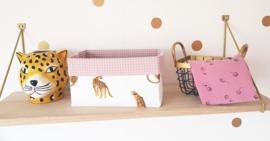 Leopard & wafelkatoen kleur naar wens