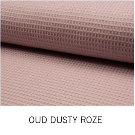 Oud Dusty Roze Wafelkatoen