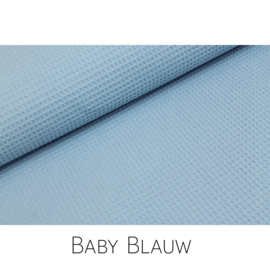 Baby Blauw wafelkatoen