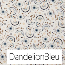 Dandelion blauw & Wafelkatoen kleur naar wens