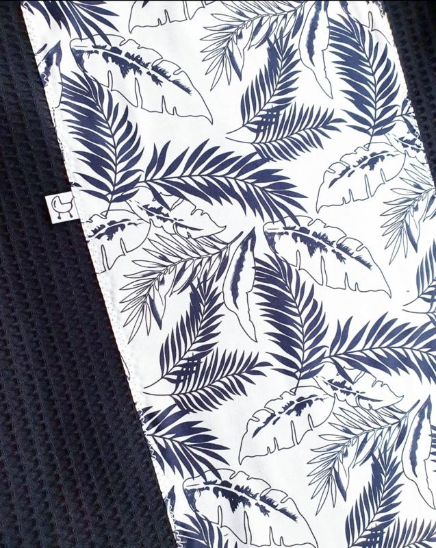 Palm Leafs & wafelkatoen kleur naar wens