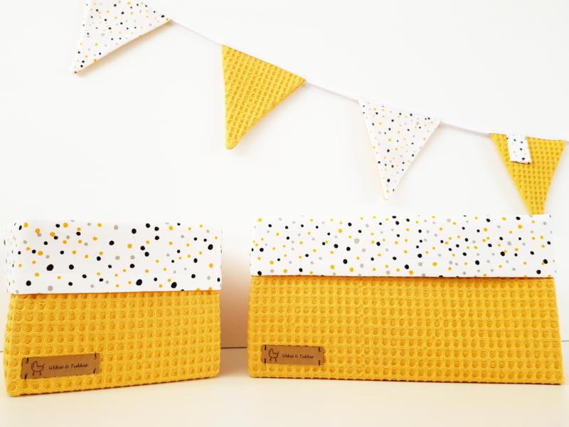 Confetti dots & wafelkatoen kleur naar wens