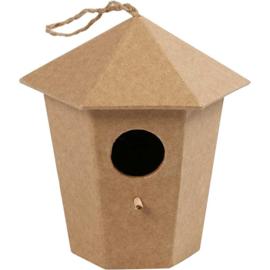 vogelhuis 6-hoek (11 cm)