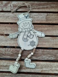 kersthanger sneeuwpop 20 cm