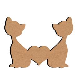 2 katten 15 cm x 16 cm