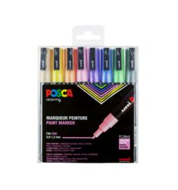 Posca set 8 pastel kleuren fijne punt