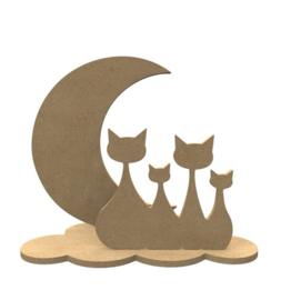 Katten  set ( 24 x 20 cm)
