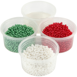 Pearl Clay, 3x25 gr, wit, rood, groen, 1set