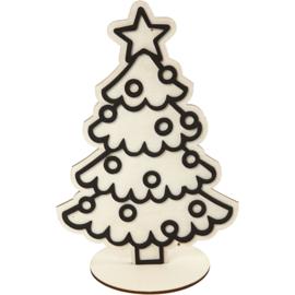 figuur om te decoreren, kerstboom 19,5 cm