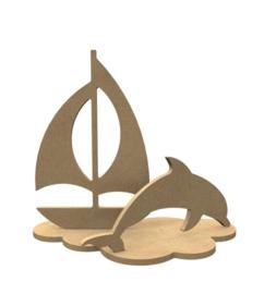 Dolfijn set ( 24 x 21 cm)