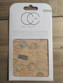 Craft Consortium decoupage Travel Stamps