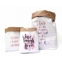 Set a 3 Paperbag Love designed by Carla Kamphuis